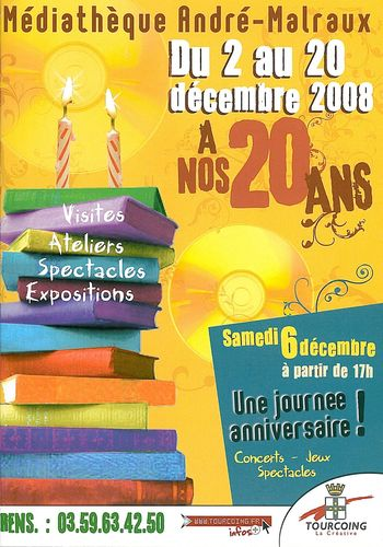 20 ans mediatheque andre malraux tourcoing